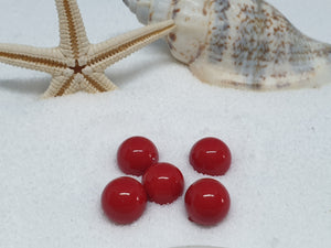 "Losse parel ""rood 6 mm"""