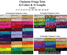 Chainette Fringe Individual Color Samples
