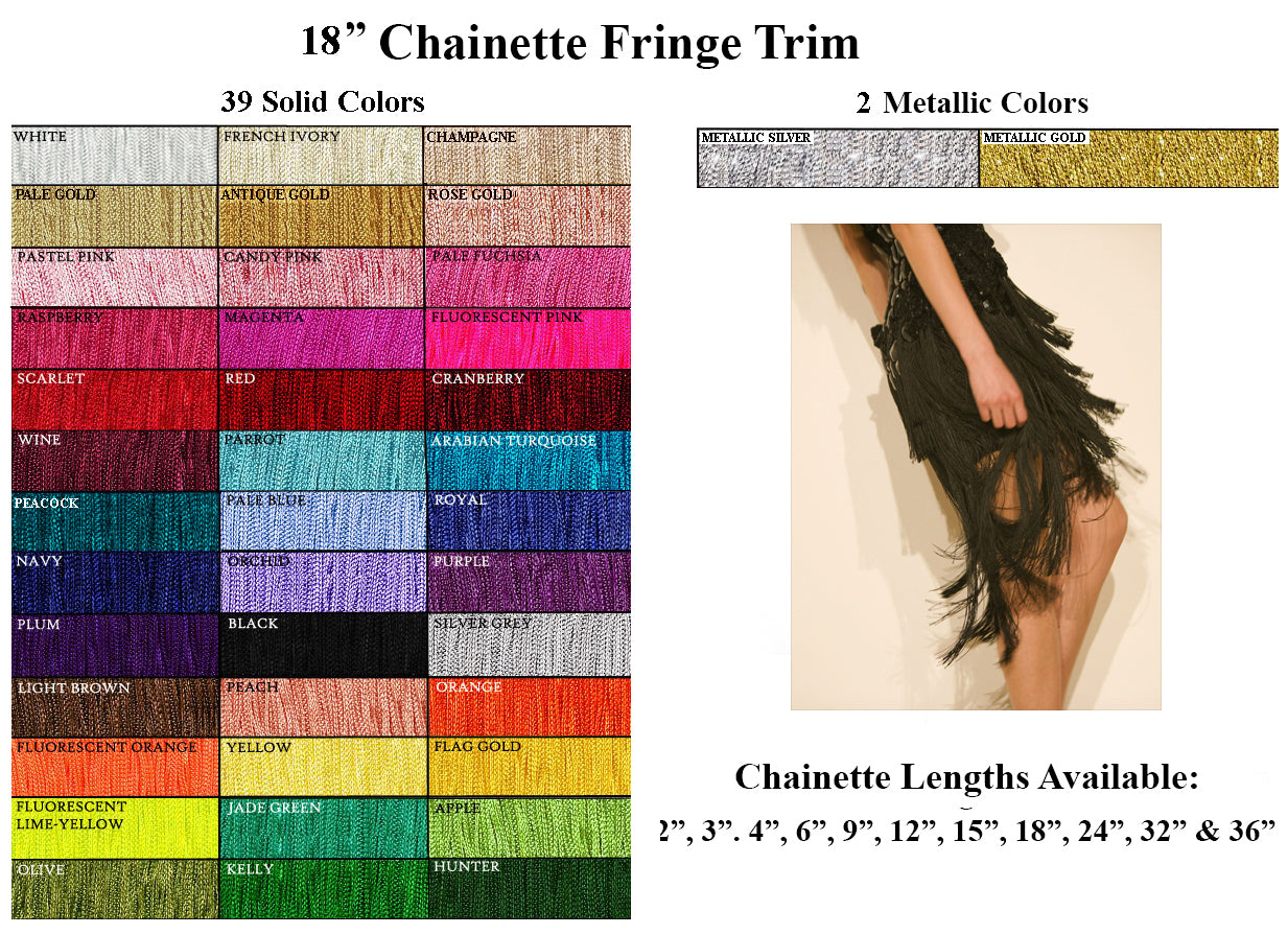 Turquoise Decorative Trimmings 100/% Rayon Chainette Fringe 6 x 9 yd