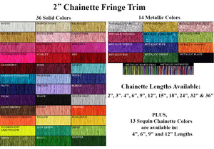 Costume and Dance Chainette Fringe Trim