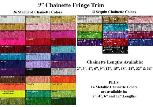 Costume and Dance Fringe Trim Sequin