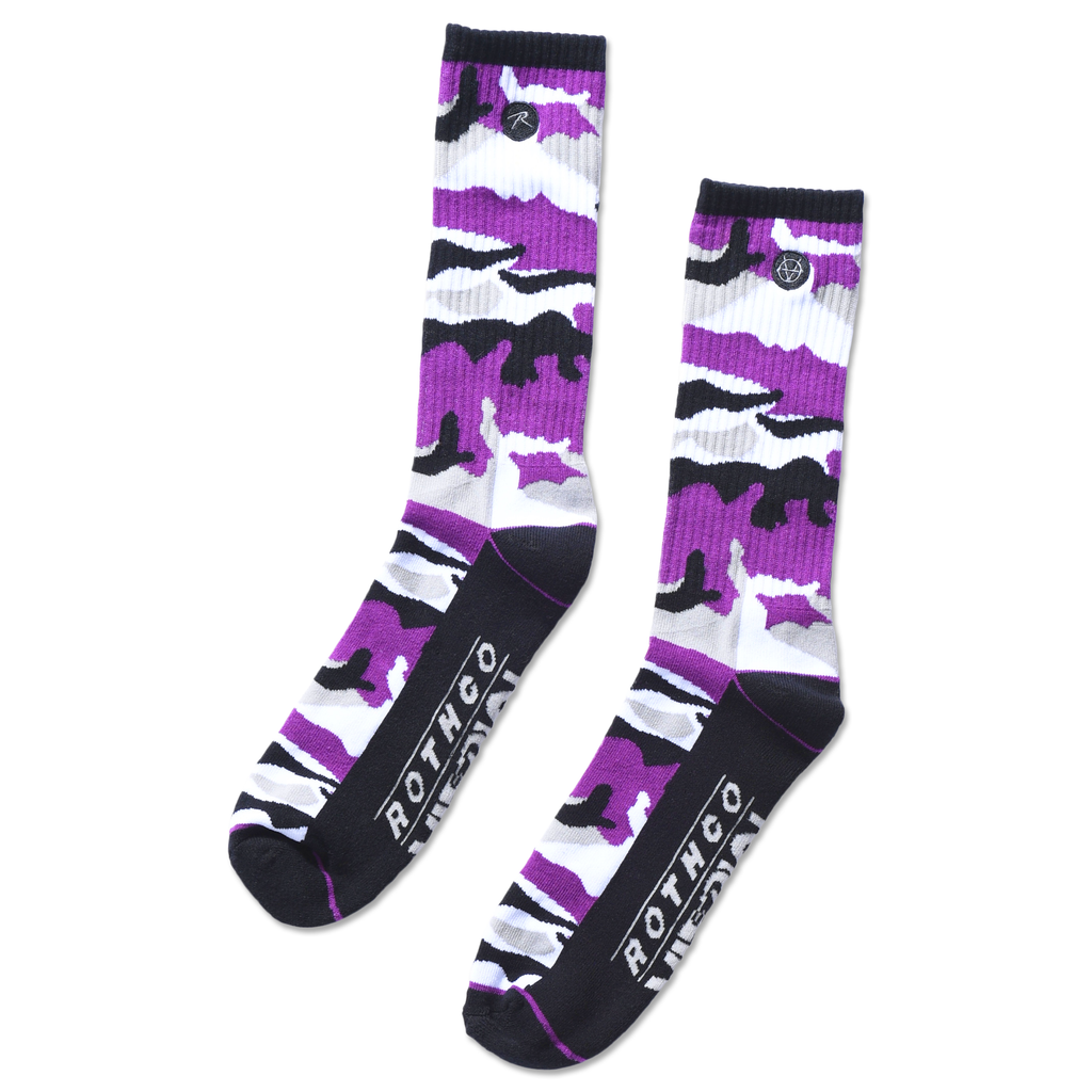 ROTHCO x VITRIOL PURPLE ZING CAMO SOCKS