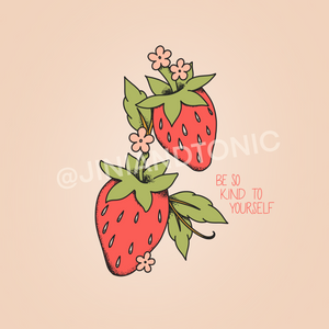 Strawberry Phone Background