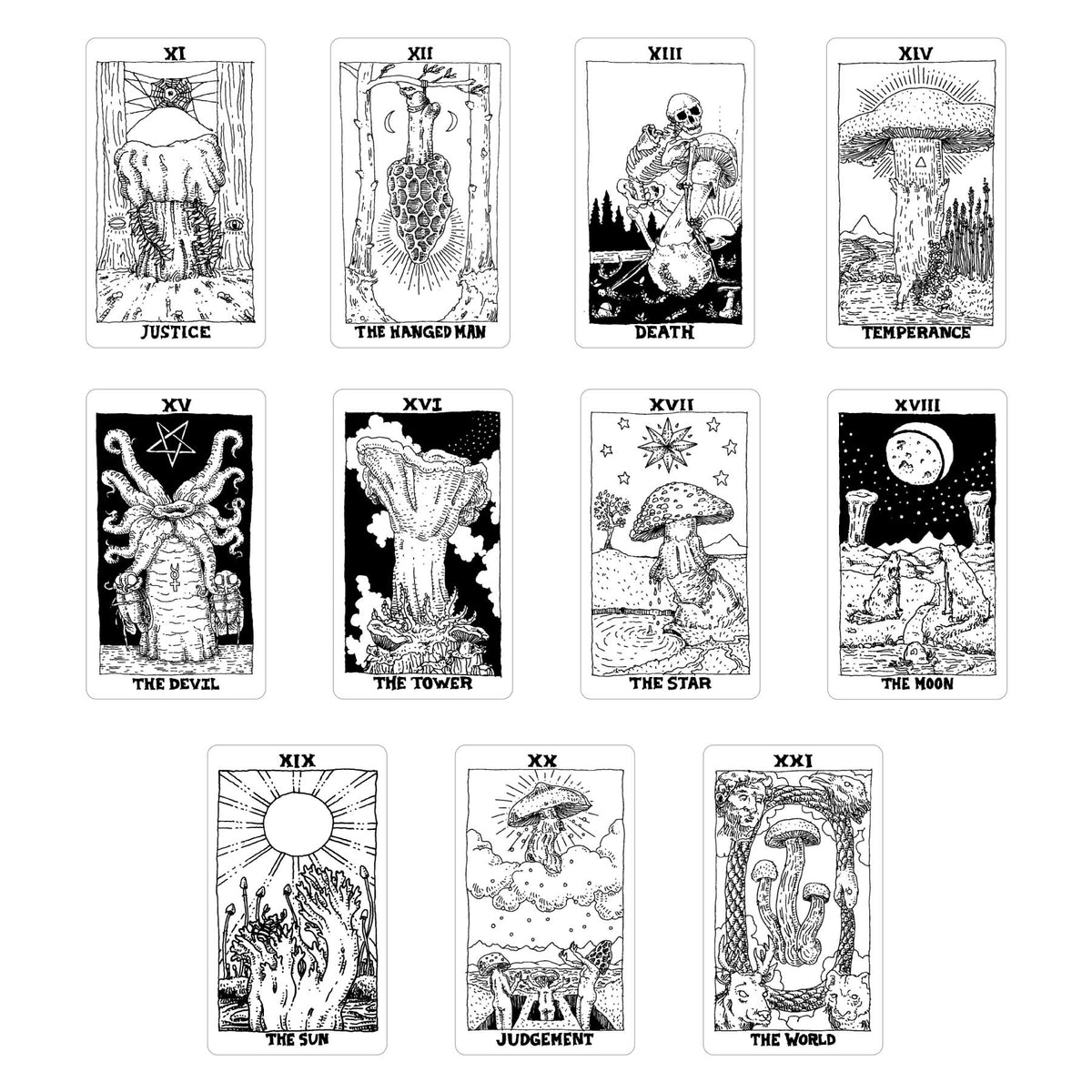 The Mushroom Tarot Deck, Major Arcana