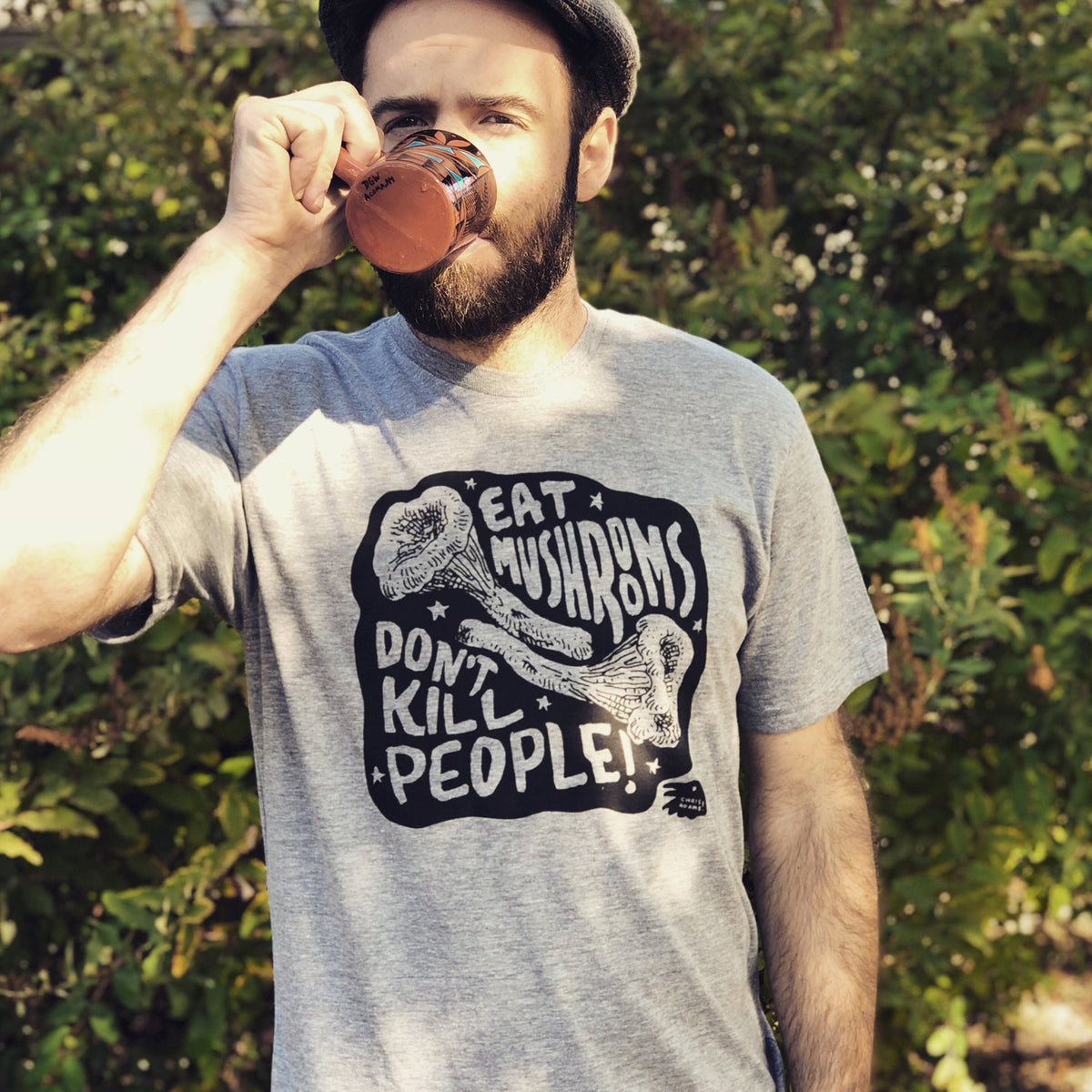 Eat Mushrooms Don't Kill People Mushroom Shirt