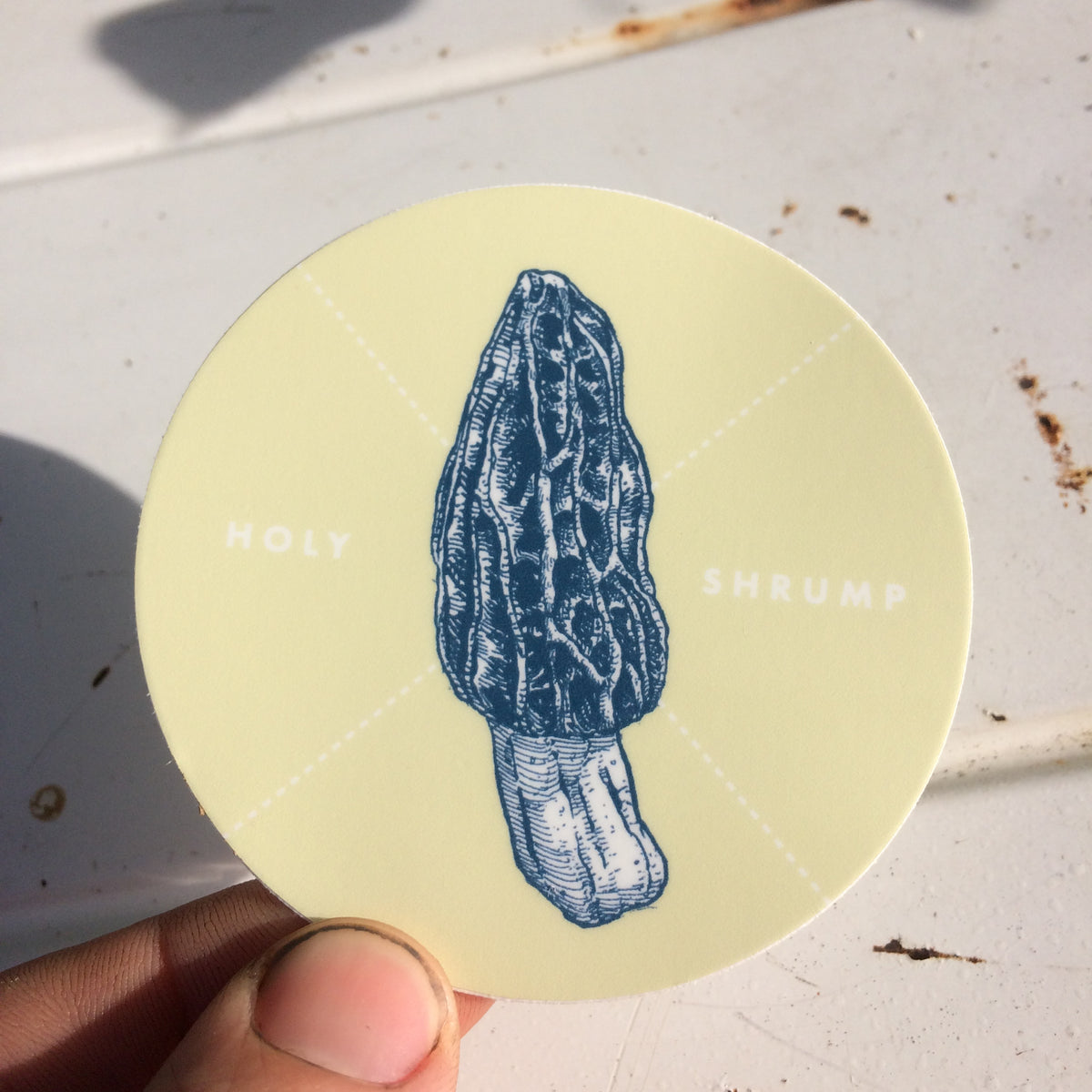 Holy Shrump Morel Sticker