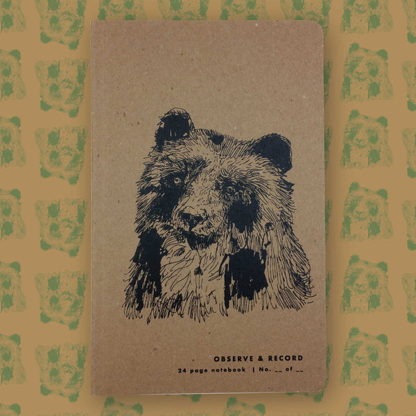 Bear Screen Printed Journal