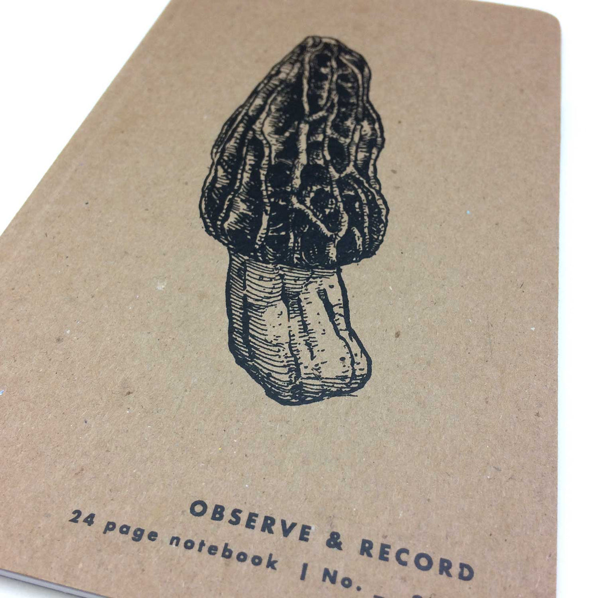 Morel Mushroom Screen Printed Journal