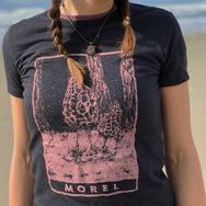 NEW Ladies Pink Morel Mushroom Tee