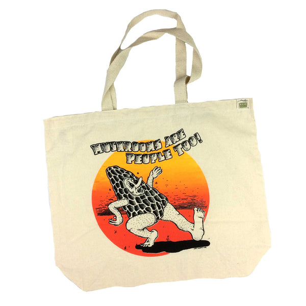 Mushrooms Are People Too  Recycled Cotton Tote