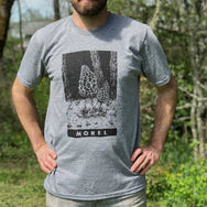NEW Grey Triblend Morel Mushroom Tee