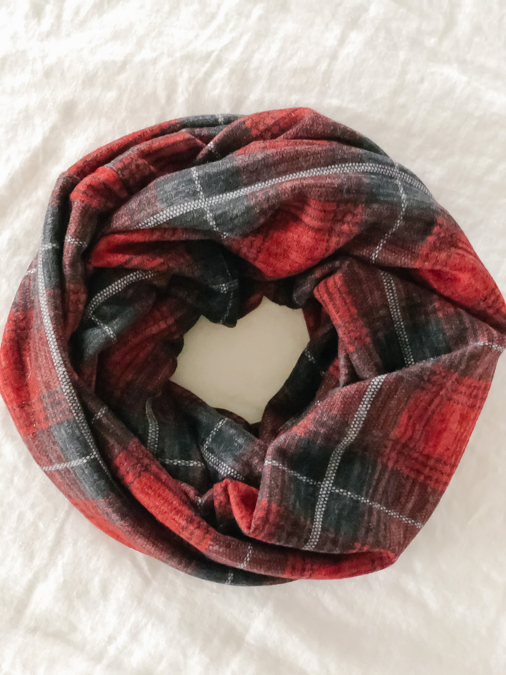 Plaid Sweater Scarf