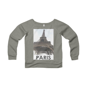 Eiffel Tower | Paris, France | Women's Sponge Fleece Wide Neck Sweatshirt
