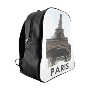 Eiffel Tower | Paris, France | PU Leather Backpack