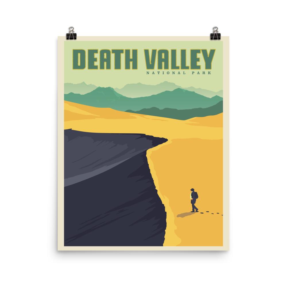 Death Valley Travel Poster