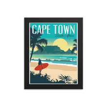 Cape Town South Africa | Vintage-Style Travel Poster | Framed Print