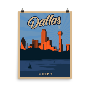 Dallas Texas Travel Poster