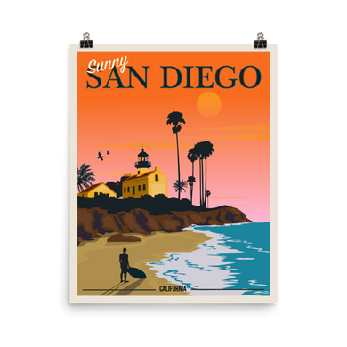 San Diego Travel Poster