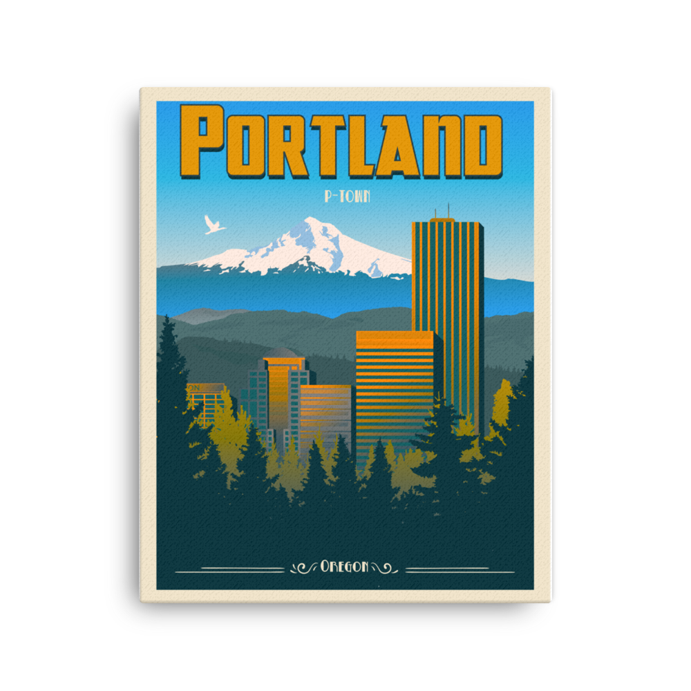 Portland Travel Poster