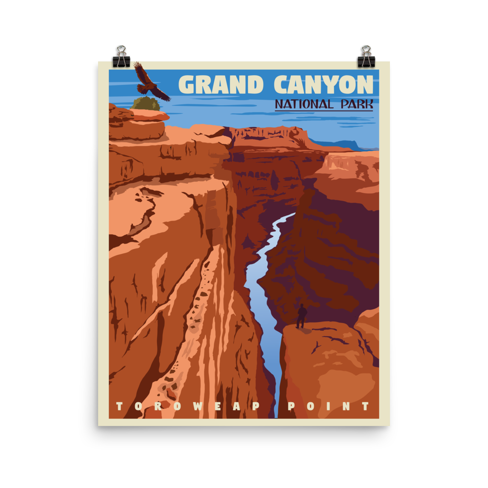 Grand Canyon | Vintage-Style Travel Poster | Premium Paper Poster