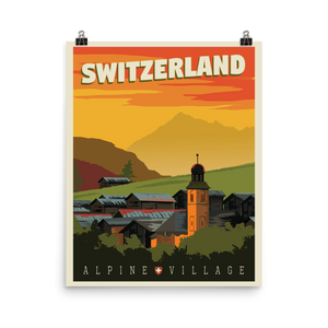 Switzerland Travel Poster