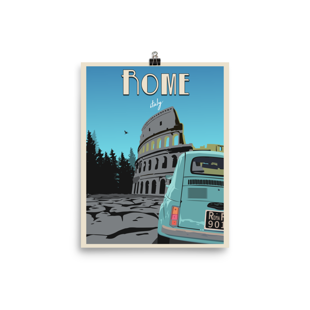 Rome Travel Poster