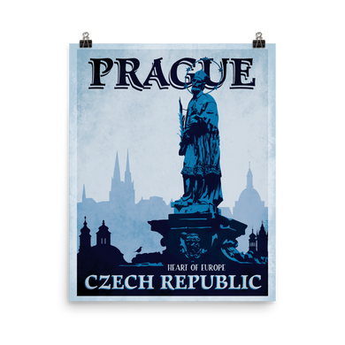 Prague Vintage Travel Poster