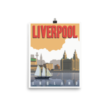Liverpool England | Vintage-Style Travel Poster | Premium Paper Print (Dusk)