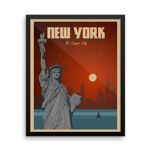 New York Travel Poster