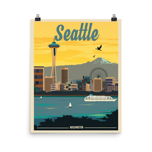 Seattle Travel Poster