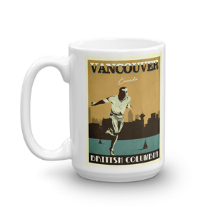 Vancouver Canada | Vintage Travel Poster | Coffee Mug (Gold)