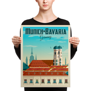 Munich Travel Poster