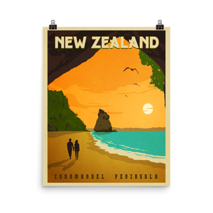 New Zealand Travel Poster