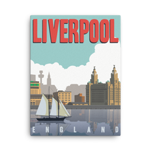 Liverpool England | Vintage-Style Travel Poster | Canvas Print (Day)