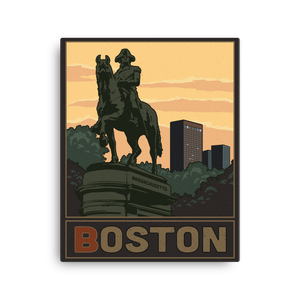 Boston Vintage Travel Poster