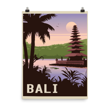 Bali Indonesia | Vintage-Style Travel Poster | Enhanced Paper Print (Dawn)