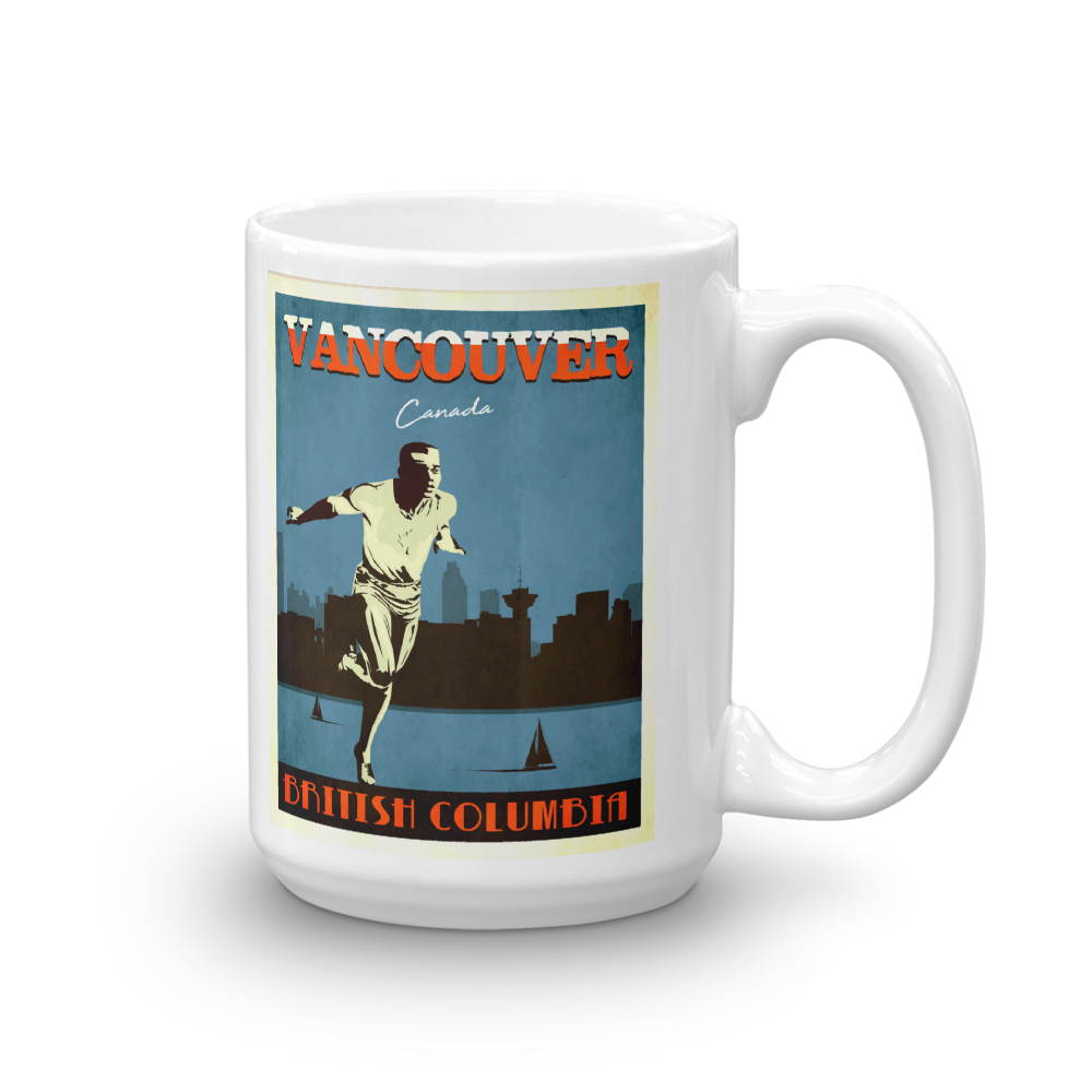 Vancouver Canada | Vintage Travel Poster | Coffee Mug (Blue)