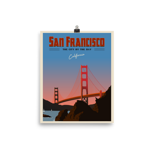 San Francisco Travel Poster