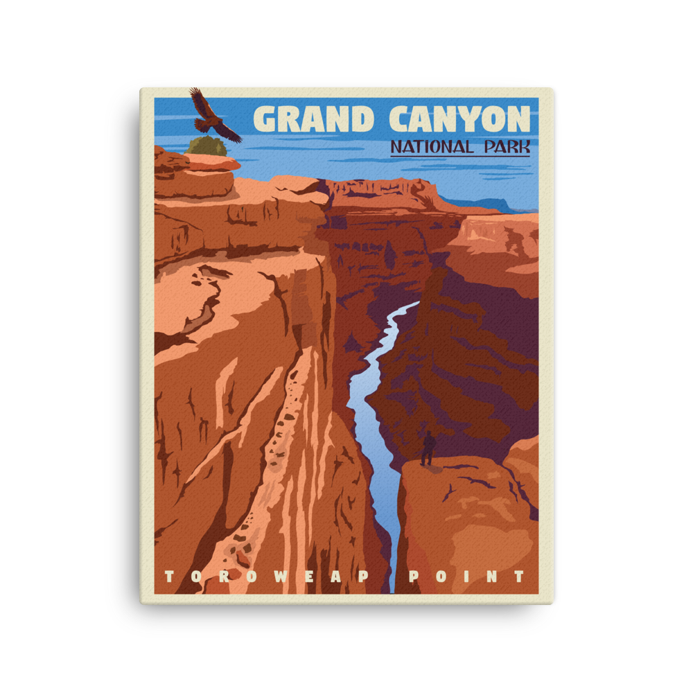 Grand Canyon | Vintage-Style Travel Poster | Canvas Print