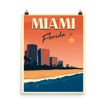 Miami Travel Poster