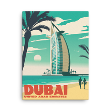 Dubai United Arab Emirates | Vintage-Style Travel Poster | Canvas Print
