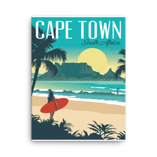 Cape Town South Africa | Vintage-Style Travel Poster | Canvas Print