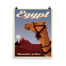 Egypt | Pyramids of Giza | Vintage-Style Travel Poster | Enhanced Matte Paper Print