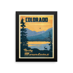Colorado Rocky Mountains Travel Poster