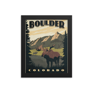 Boulder Colorado Vintage Travel Poster