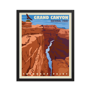 Grand Canyon | Vintage-Style Travel Poster | Framed Print