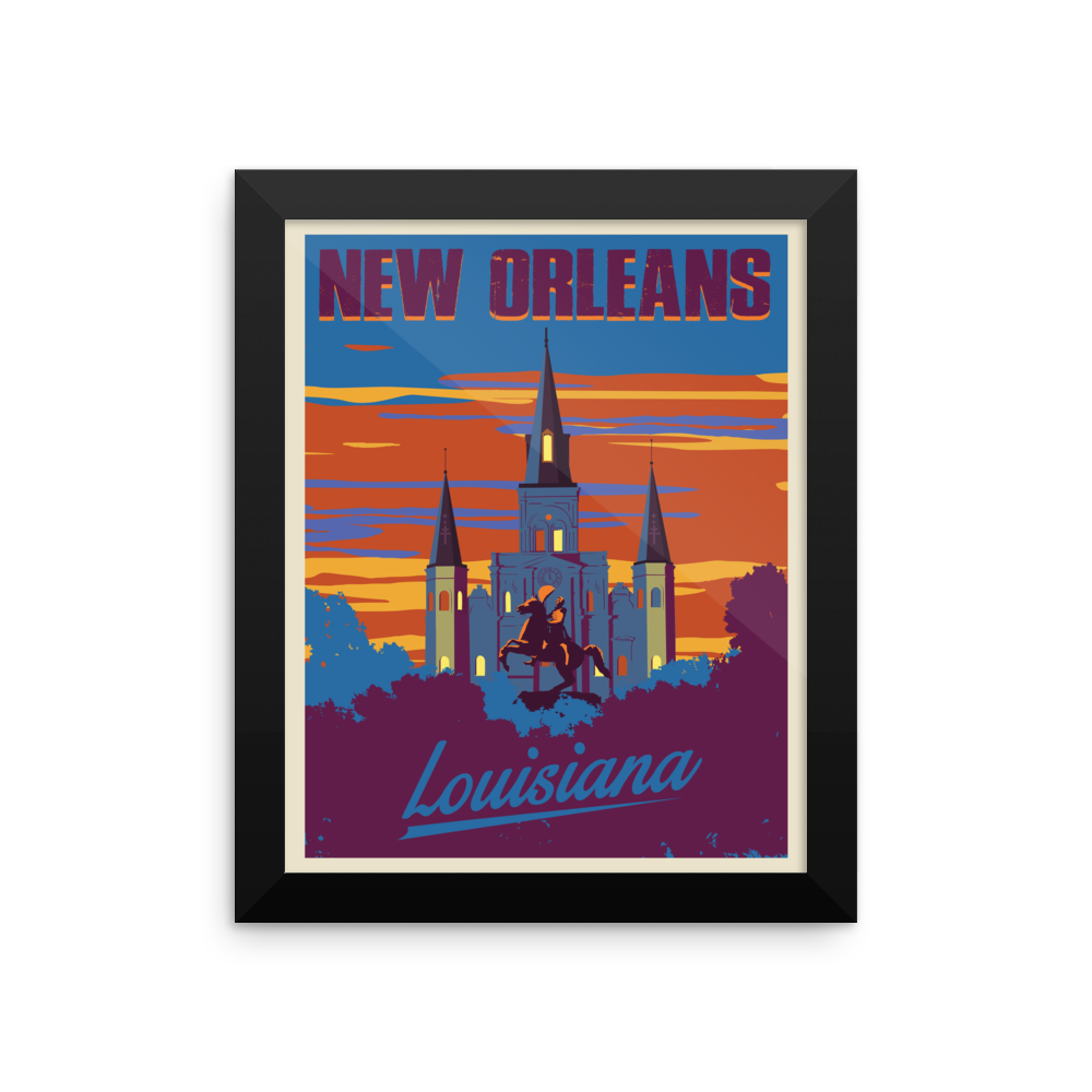 New Orleans Travel Poster