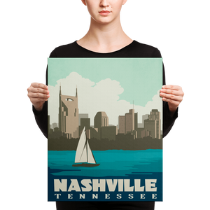 Nashville Tennessee | Vintage-Style Travel Poster | Canvas Print