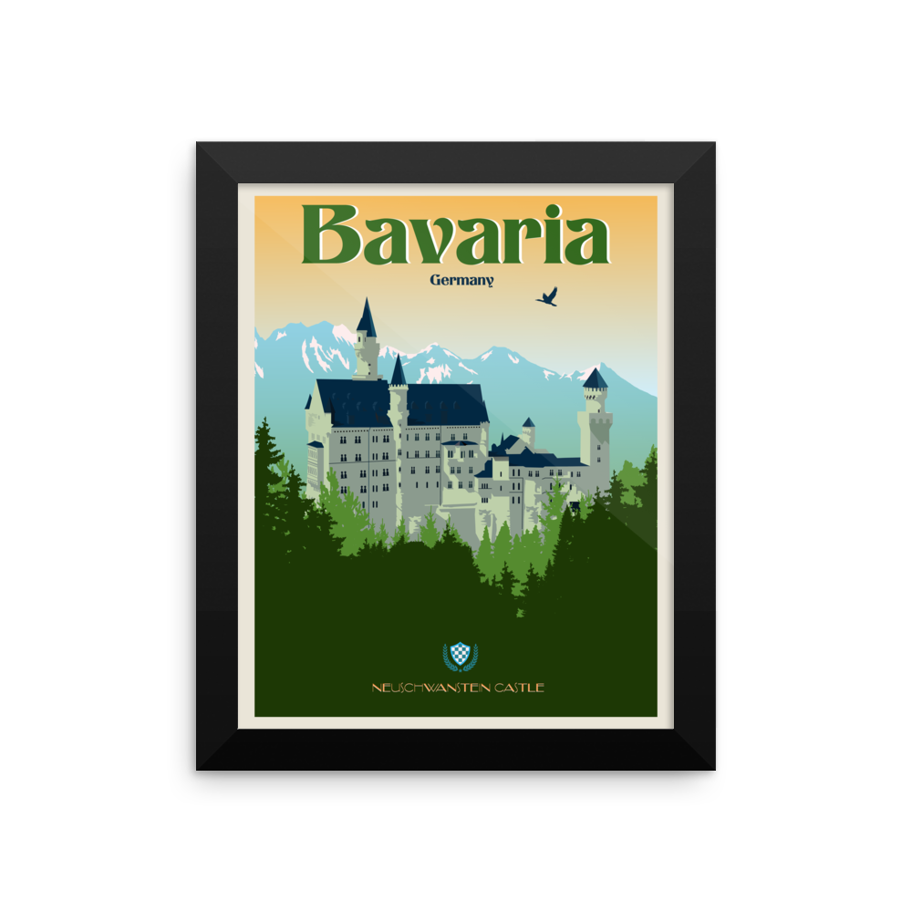 Neuschwanstein Castle Travel Poster