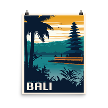 Bali Indonesia | Vintage-Style Travel Poster | Enhanced Paper Print (Dusk)
